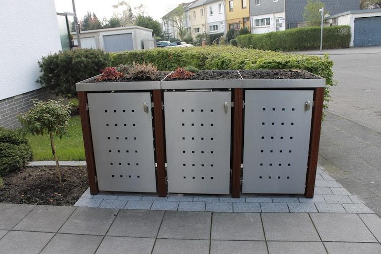 3er m lltonnenbox m lltonnenbox f r 3 m lltonnen von zaun fackler. Black Bedroom Furniture Sets. Home Design Ideas